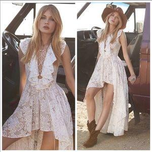 Revolve Jet Set Diaries White Lace Goddess Dress